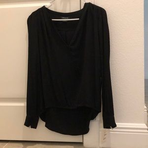 Black long sleeved blouse Trouvé from Nordstrom.